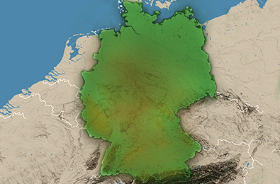 Map Of Germany Landforms.Get To Know Germany